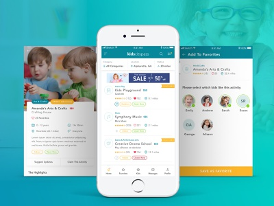Kids Activity App angularjs illustration app design application ux ui