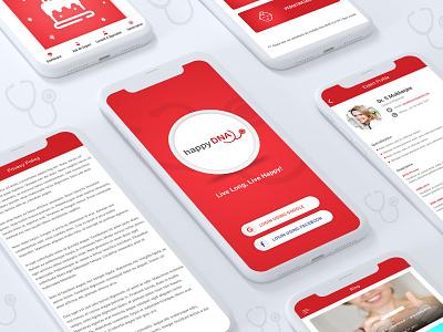 Happy DNA ios application ios app design android app development android app design illustration app design application ux ui