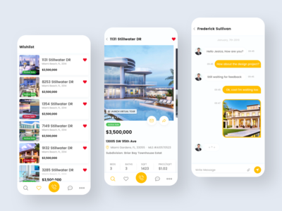 Property Search App real estate agency real estate agent real estate app ecommerce app modern clean app chat typography clean illustration design application ux ui