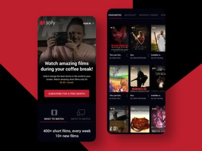 Video Streaming App modern streaming app music app flim movie app video app app clean design application ux ui