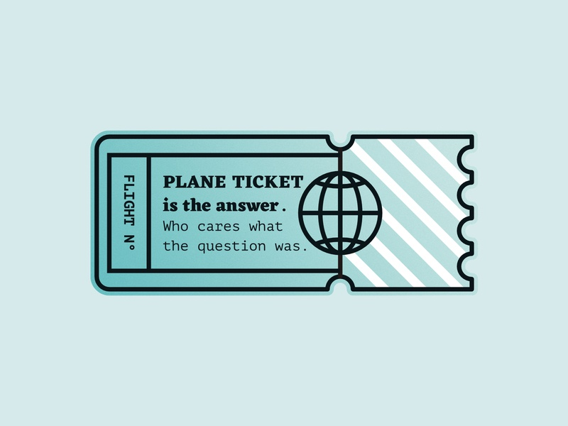 Plane Ticket Illustration lines line line art illustration