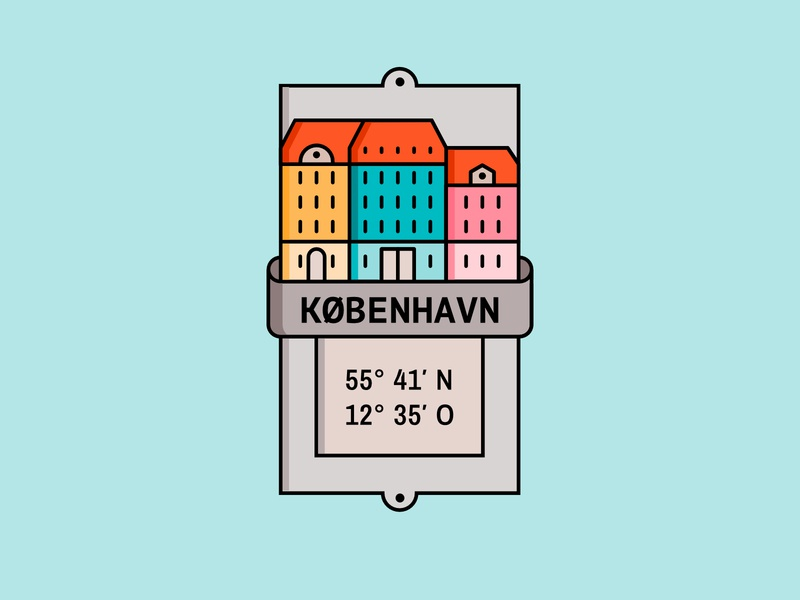 Kopenhagen – Icon | Illustration icons illustrations illustration design icon branding badge design badgedesign illustration art badge illustration