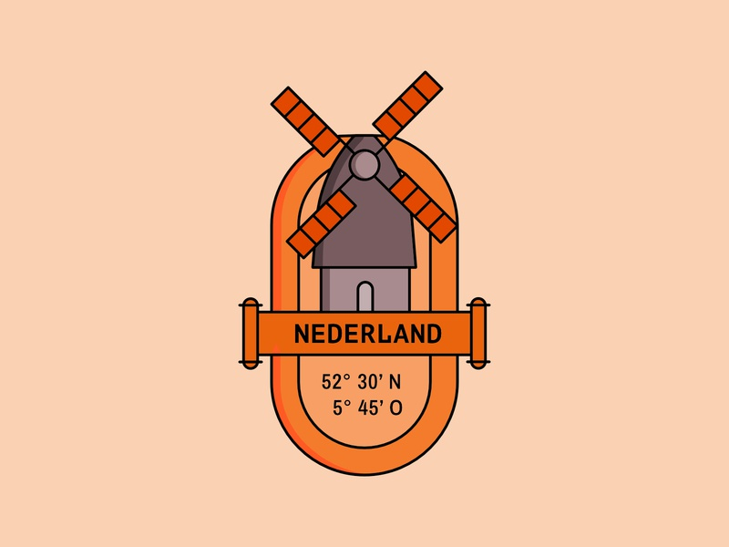 The Netherlands – Illustration | Icon illustration illustration design icon design badge design badge badgedesign illustration art illustrations