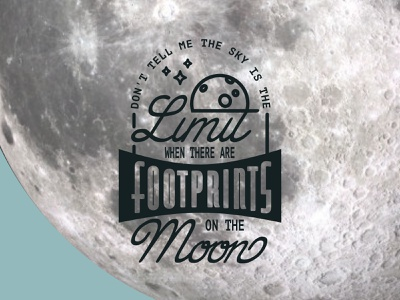 Lettering – Footprints on the Moon illustration art illustration design lettering art lettering artist lettering