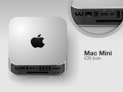 mac mini ios icon by arasoyo dribbble. Black Bedroom Furniture Sets. Home Design Ideas