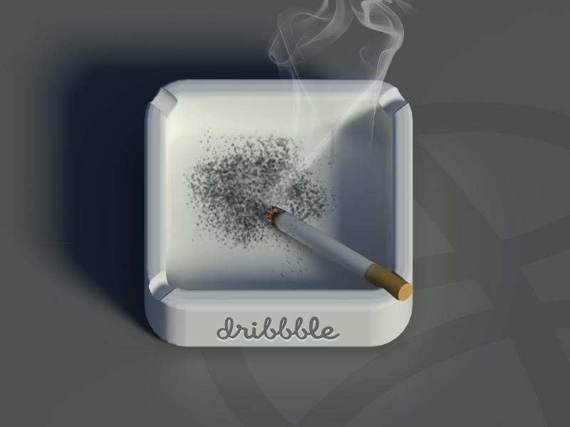 Ashtray iOS Icon ashtray smoke smoking cigarette ios icon iphone ipad ashtray ios icon ios icon ipod touch