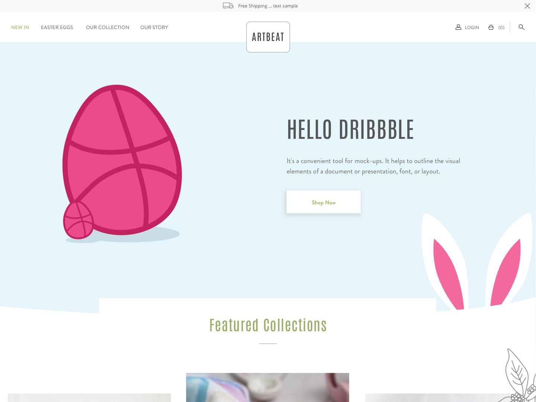 Happy Easter, Dribbble lettering type website flat web app ux icon typography branding ui logo design illustration art graphic design appdesigner uxdesigner uidesigner webdesign