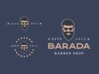 BARADA - Barbershop Logo brand design brand illustration art illustrations illustraion illustrator illustration logos logo design logo logodesign branding
