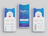 Paybox App Re-Branding Concept app design transfer money money transfer rebranding rebrand ui  ux uiux uidesign ui design ui