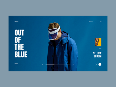 Moodboard Series 2 - Out of the Blue landing composition mood moodboard typography blue web layout concept minimal ui