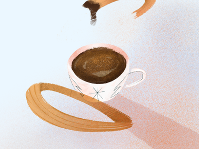 Hot Chocolate with Churros bar restaurant beverage drawing christmas seasons greetings cozy texture procreate mug churros illustration winter coffee food dessert chocolate
