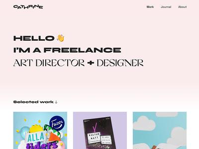 New website branding tactile for hire design art director freelance