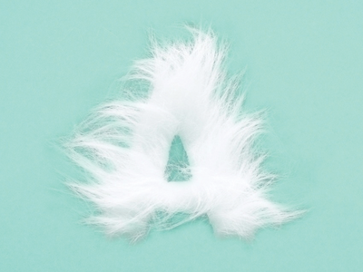 Furry font fluffy letters typography tactile furry font