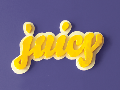 Juicy type clay typography tactile