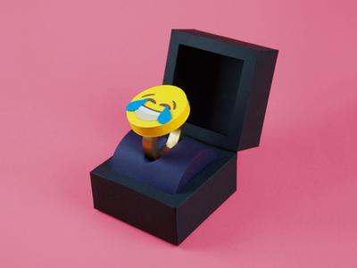I do lauging ring proposal i do emoji craft art direction tactile paper