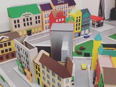 SABO Kombohus cities house city papercut tactile paper