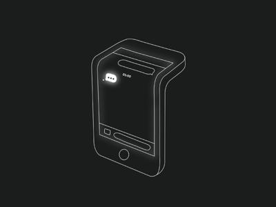 Late night txt message late night illustration smartphone phone text