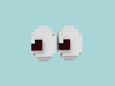 eyes-moji emoji pixel pattern voxel magicavoxel