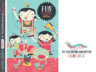 Fun & Games Journal journal book games kids puppets bird pinwheel toys playground equipment nicole larue illustration