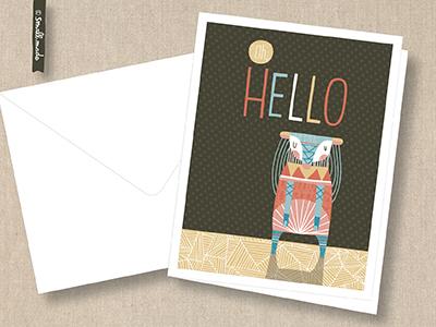 Oh Hello Card Series greeting card nicole larue illustration card stationery