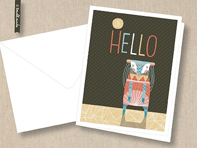 Oh Hello Card Series greeting card nicole larue illustration card stationery