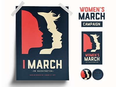 Women's March on Washington branding campaign washington d.c. feminism logo womens march