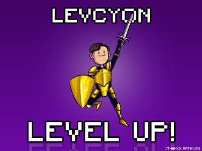 Level Up art photoshop debut justjoined levelup gameartist