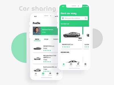 Car Sharing mobile car sharing ux design ui mobile