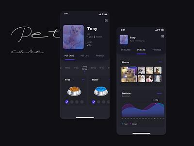 PetCare App graphic pet uiux ui mobile