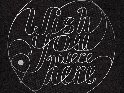 Wish You Were Here typography design noise texture wish you were here covid corona postcard quote linework line type art typographic typography type