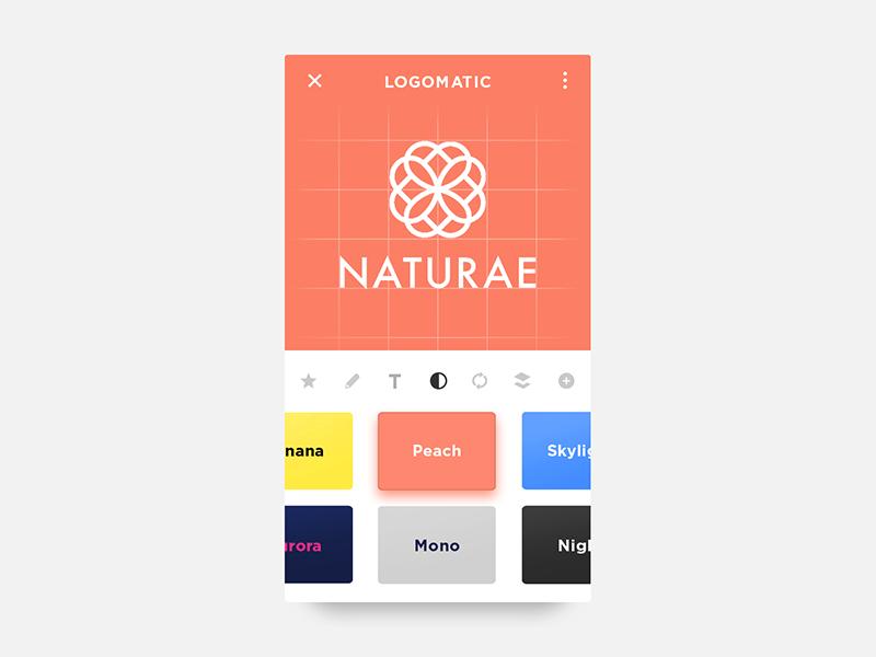 Daily UI #052 - Logo Design theme color automatic creator logo ux ui design challenge app 52