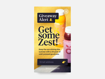 Daily UI #097 - Giveaway