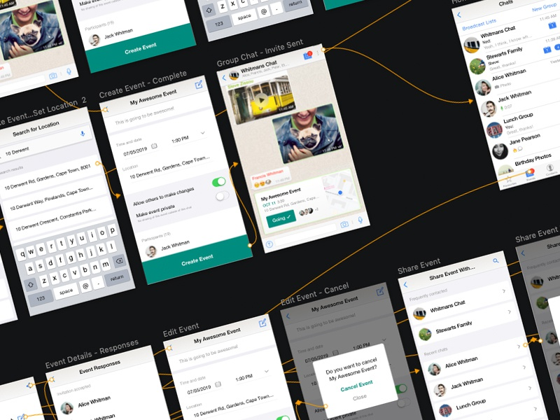 UX Case Study Prototyping study course case study whatsapp app user journey flow sketch app interface design interface design mockups screens linking protoyping prototype sketch wireframe ux ui