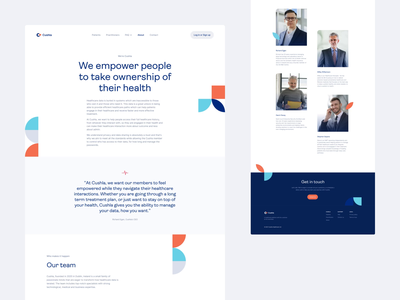 Cushla – website video animation desktop homepage website landing page landing b2b saas healthcare product design user experience user interface design blue web clean ux ui