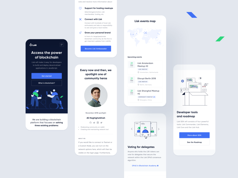 Lisk website – RWD preview bitcoin trading ux ui mobile rwd website web crypto cryptocurrency blockchain