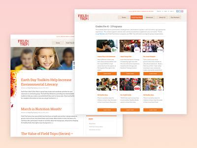 Field Trip Factory Website education responsive web