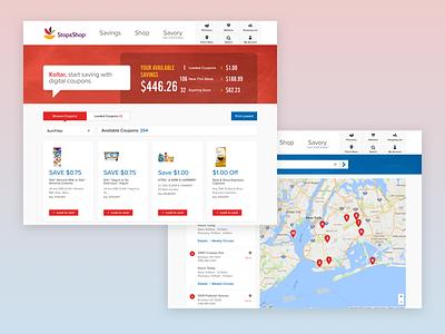 Stop & Shop ux ui food retail responsive web