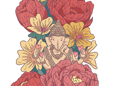 Ganpati - Indian Wedding Invitation Detail