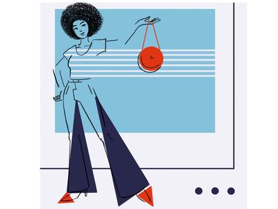 Summer love shapes character design colour illustrator illustration