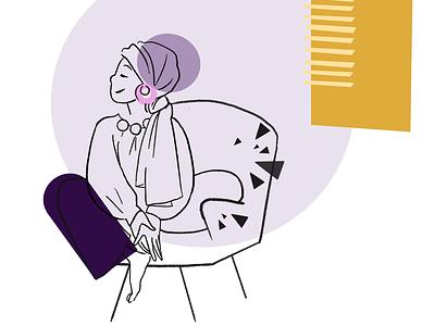 Chill colour shapes illustrator digital art character design illustration