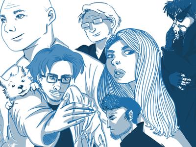Box Bear Team drawing comic design characterdesign illustrator animation illustration