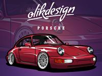 Porsche 964 Illustration Artwork