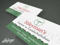 Süleyman Gartenbau Visitenkarte