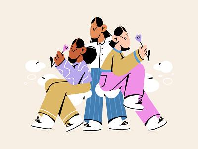girls ❤️ girl power women empowerment woman girls girl character design character illustration