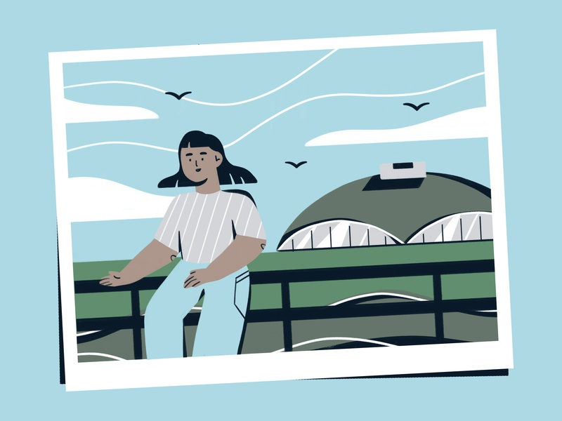 take a picture; it will last longer 🏙 character 6hexcodes landscape girl postcard city illustration