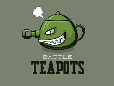 Battle Teapots sport logo teapot