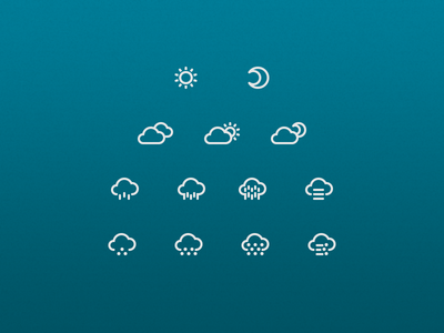 How is the weather today? weather icons 2gis