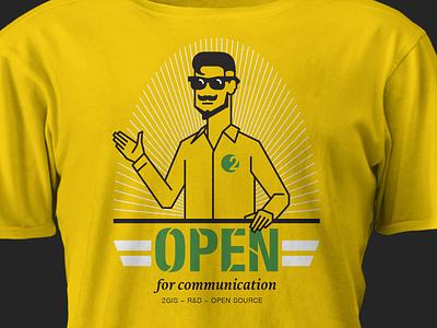 2GIS Open Source 2gis t-shirt hipster yellow