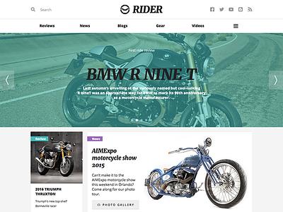 Rider blog magazine ui rider