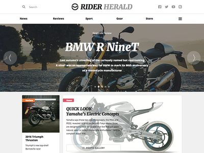 Rider magazine rider blog ui